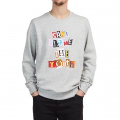 LRG Can't Blame The Youth Crew Sweatshirt - Ash Heather