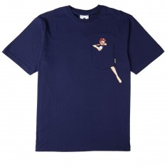 LRG Hello Windy Pocket T-Shirt - Patriot Blue