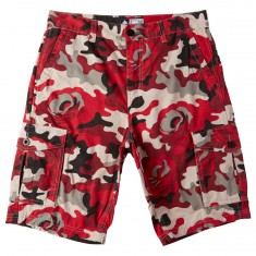 LRG Rose Camo Cargo Shorts - Red