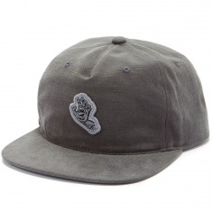 Santa Cruz Screaming Hand Snapback Hat - Charcoal