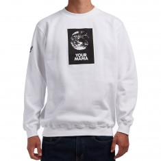 The Hundreds Your Mama Crewneck Sweatshirt - White