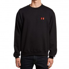 The Hundreds Rich Flag Crewneck Sweatshirt - Black