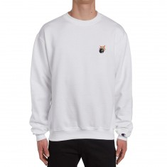 The Hundreds Crest Adam Crew Neck Sweatshirt - White