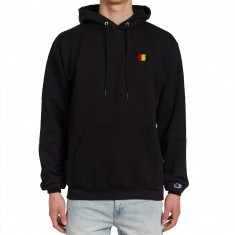 The Hundreds Flag Emblem Pullover Hoodie - Black