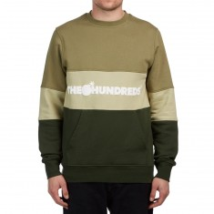 The Hundreds Channel Crewneck Sweatshirt - Dusty Olive