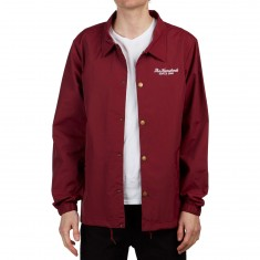 The Hundreds Rich Coaches Jacket - Burgundy