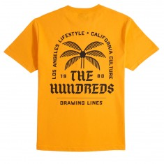 The Hundreds LA CA Lifestyle T-Shirt - Gold