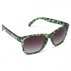 Happy Hour Torey Pudwill High Times Sunglasses - Transparent Gloss Green/Weed Leaves
