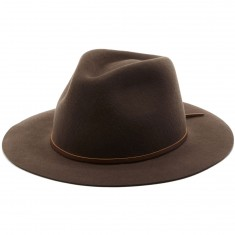 Brixton Wesley Fedora Hat - Brown/Black