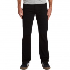 CCS Banks Straight Fit 5 Pocket Twill Pants - Black
