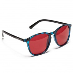 Happy Hour Flap Jacks Nuge Sunglasses - Blue Tortoise/Red Lens