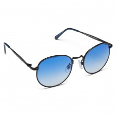 Happy Hour Riley Hawk Holidaze Sunglasses - Black With Blue Lens