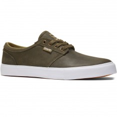 State Elgin Shoes - Dark Olive/White Wax Suede
