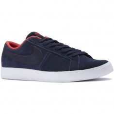 Nike SB Blazer Vapor Shoes - Obsidian/White/Red