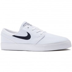 Nike Zoom Stefan Janoski Canvas Shoes - White/Obsidian