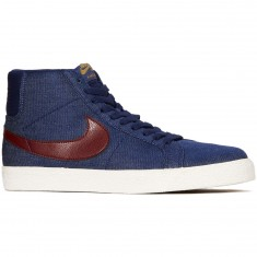 Nike SB Zoom Blazer Mid Shoes - Binary Blue/Team Red/Metallic Gold