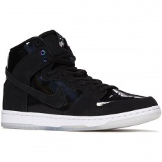 Nike Dunk High Pro SB Shoes - Black/Black/White