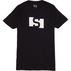 State S Flag T-Shirt - Black