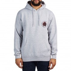 Lira Rose Badge Fleece Hoodie - Heather Grey
