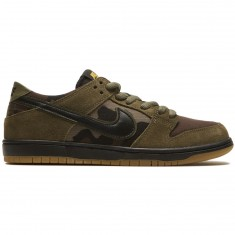 Nike SB Zoom Dunk Low Pro Shoes - Medium Olive/Black Gum/Light Brown