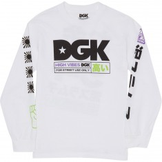 DGK High Vibes Long Sleeve T-Shirt - White