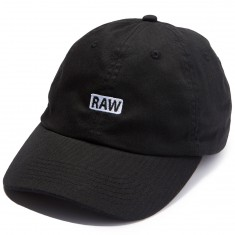 Visual Raw Unstructured 6-Panel Strapback Hat - Black