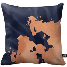 Night Shift Acid Wash Throw Pillow - Black