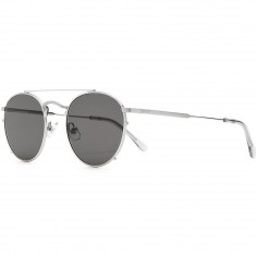 Crap Eyewear The Tuff Patrol Sunglasses - Brushed Silver Wire/Smoke Grey Tips