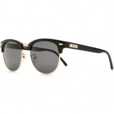 Crap Eyewear The Nudie Club Sunglasses - Flat Black/Gold Brow Accents & Wire