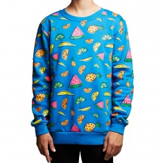 Antler And Woods Market Crew Sweatshirt - Blue