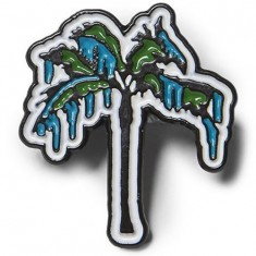 Raised By Wolves Palm Pin - Silver Enamel
