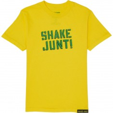 Shake Junt Spray Logo T-Shirt - Yellow/Green