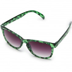 Happy Hour High Times Sunglasses - Smoke Green