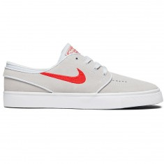 Nike Zoom Stefan Janoski Shoes - Pure Platinum/University Red/Black