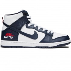 Nike SB Future Court Zoom Dunk High Pro Shoes - Obsidian/White/University Red