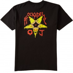Psockadelic X OJ Wheels Killer Pizza T-Shirt - Black/Gold