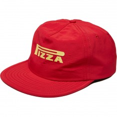 Pizza Pepperelli 5 Panel Hat - Red