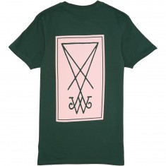 Welcome Symbol T-Shirt - Forest/Pink
