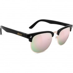 Glassy Morrison Sunglasses - Black/Pink Mirror