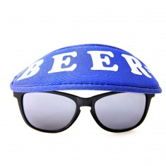Happy Hour Beer Sunglasses Hat - Blue