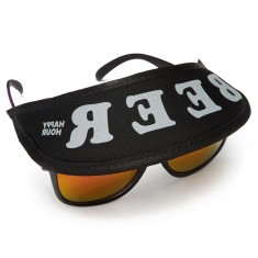 Happy Hour Beer Sunglasses Hat - Black