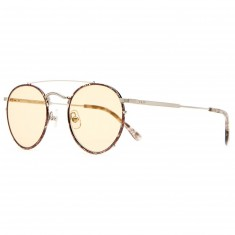 Crap Eyewear The Tuff Safari Sunglasses - Espresso Rims / Brushed Silver Wire