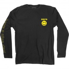 Zero Smiley Longsleeve T-Shirt - Black/Yellow