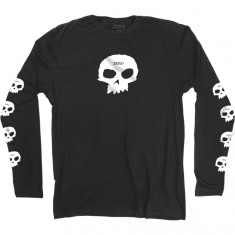 Zero Multi Skull Long Sleeve T-Shirt - Black