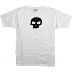 Zero Single Skull T-Shirt - White/Black