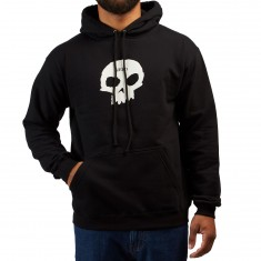 Zero Single Skull Hoodie - Black