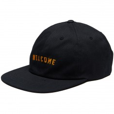 Welcome Academic Unstructured 6-Panel Snapback Hat - Black/Yellow