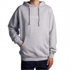 Welcome Scrawl Embroidered Midweight Hoodie - Heather/White