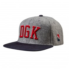 DGK Fly Ball Snapback Hat - Athletic Heather
