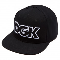 DGK Outline Snapback Hat - Black